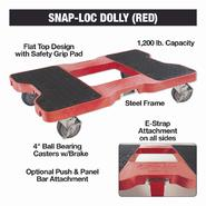 Snap-Loc General Purpose Dolly, 1200 lb., Red at Sears.com