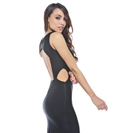 AX Paris Women's Backless Side Cut Out Maxi Black Dress - Online Exclusive at Kmart.com