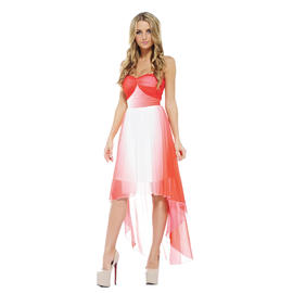 AX Paris Women's Dip Dye Drop Back Chiffon Dress - Online Exclusive at Sears.com