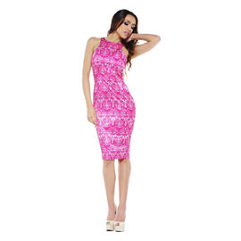 AX Paris Women's Oriental Printed Cut In Neck Midi Dress - Online Exclusive at Kmart.com