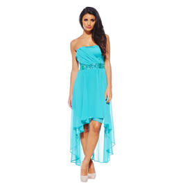 AX Paris Women's Strapless Drop Back Jewel Aqua Dress - Online Exclusive at Sears.com