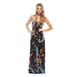 AX Paris Women's Strapless Paisley Dress - Online Exclusive at Kmart.com