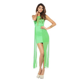 AX Paris Women's Mesh V Front and Side Green Dress - Online Exclusive at Sears.com