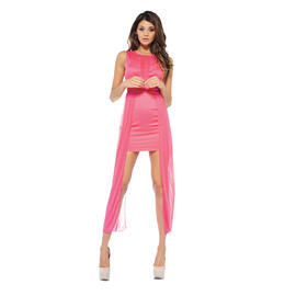 AX Paris Women's Mesh V Front and Side Coral Dress - Online Exclusive at Sears.com