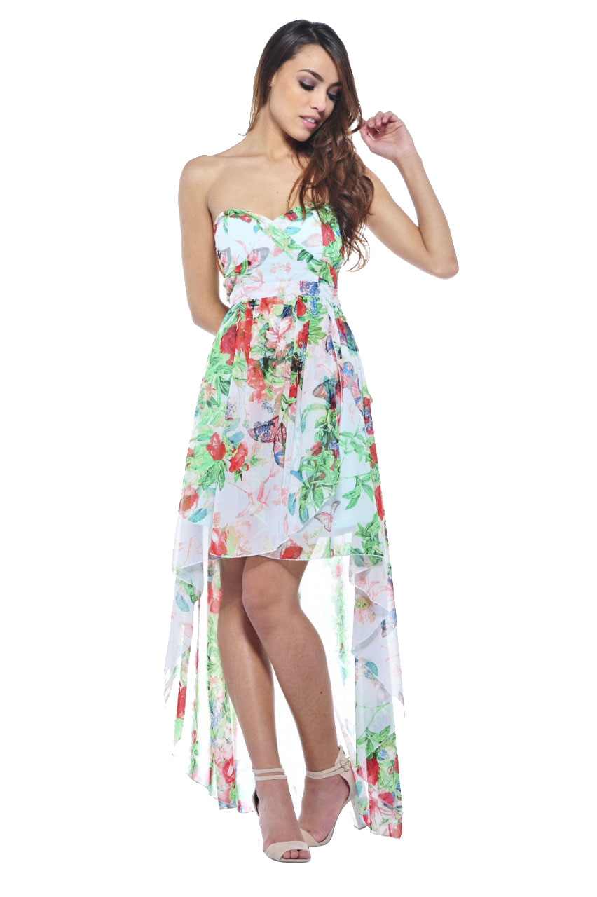 Women's Summer Floral Printed Strapless