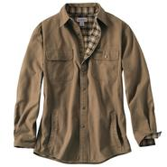 Carhartt Men's Weathered Canvas Shirt Jacket - Flannel Lined at Sears.com