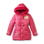 Disney Girl's Sparkle Puffer Jacket - Belle, Cinderella, Aurora at Kmart.com