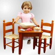 The Queen's Treasures Square Table & Chairs for 18'' Dolls like American Girl at Kmart.com