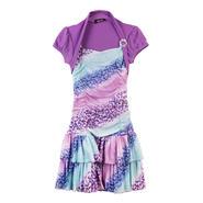 Amy's Closet Girl's Ombre Shirred Dress & Shrug - Glittered Leopard Print at Sears.com