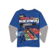 Disney Baby Toddler Boy's Layered Graphic T-Shirt - Cars Raceway at Sears.com