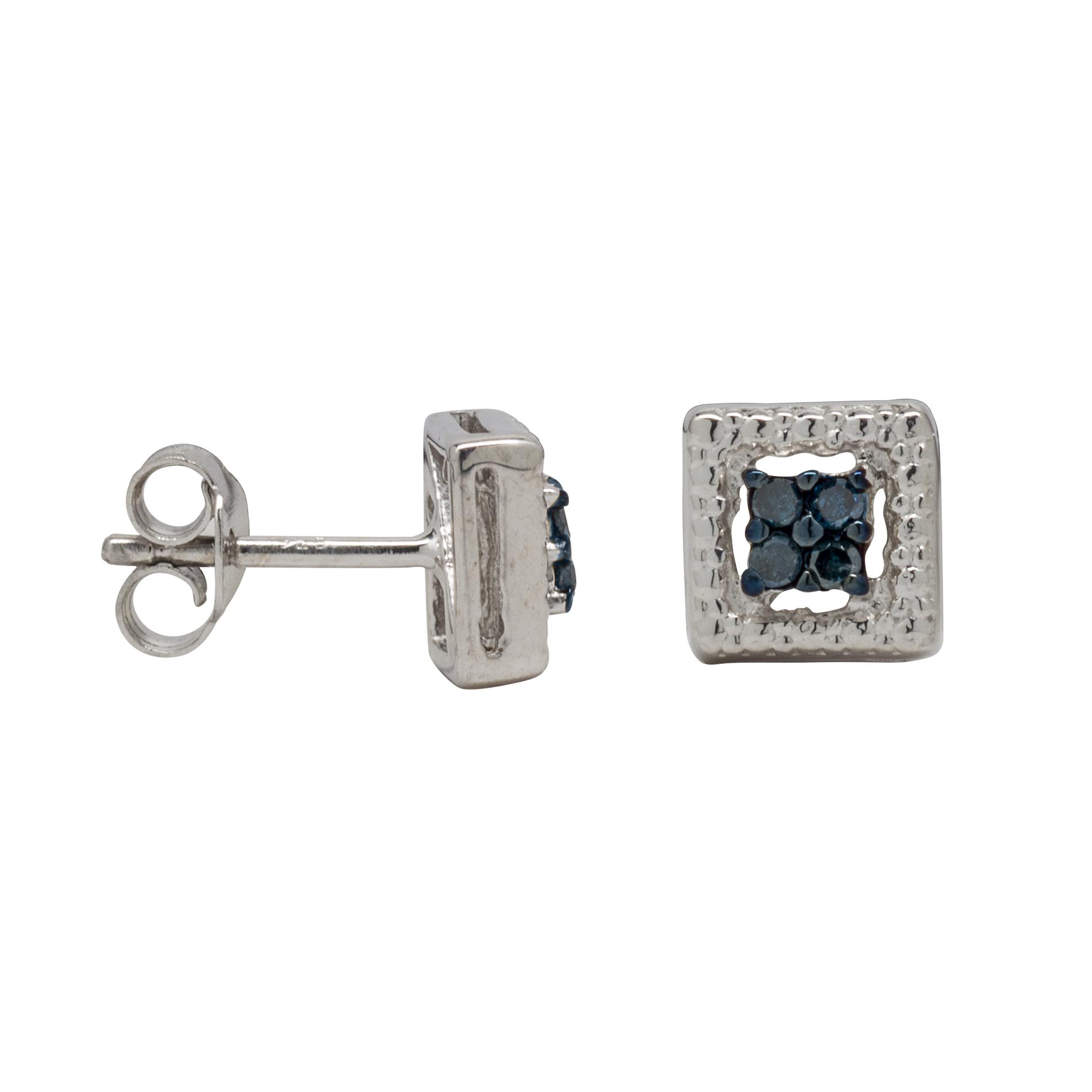 1/10 Cttw. Princess Diamond Sterling Silver
