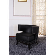 Armen Eclipse Club Chair, Black Vinyl With Nailhead Accents And Espresso Wood Finish. at Kmart.com
