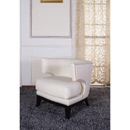 Armen Eclipse Club Chair, Crème Vinyl With Nailhead Accents And Espresso Wood Finish. at Kmart.com