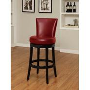"Armen Boston swivel barstool in red bicast leather 30"" seat height at Kmart.com"