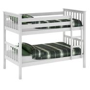 CorLiving Monterey White Painted Solid Wood Twin/Single Bunk Bed at Kmart.com