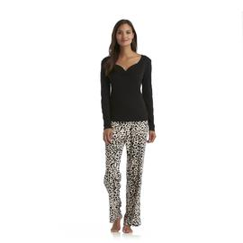 Sofia by Sofia Vergara Women's Ultrasoft Pajamas - Leopard at Kmart.com