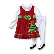 Holiday Editions Infant & Toddler Girl's Dress, Shirt & Tights - Christmas at Kmart.com
