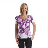 Jaclyn Smith Women's Keyhole Neck Blouse at Kmart.com