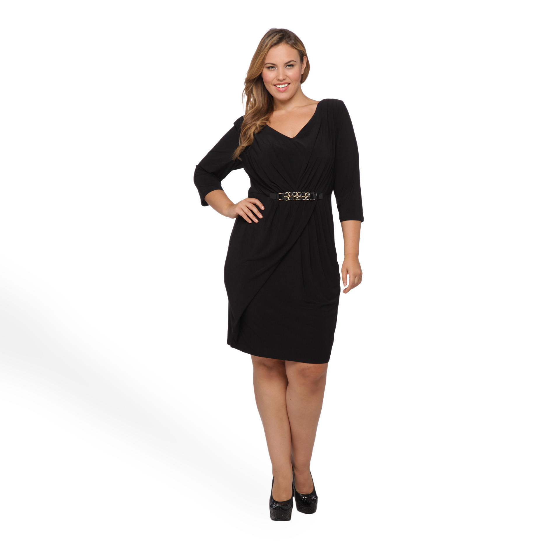 JBS Women's Plus Faux Wrap Dress at Sears.com