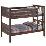 CorLiving Monterey Espresso Brown Stained Solid Wood Twin/Single Bunk Bed at Kmart.com
