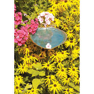 "Achla Aspen Leaf Bird Bath Brass W/ Verdi Finish 12.5""L at Kmart.com"