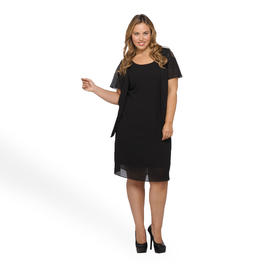 Another Thyme Women's Plus Dress & Jacket - Glitter at Sears.com