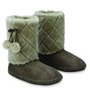 Bongo Junior's Quilted Faux Fur Slipper Boots at Sears.com