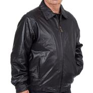 Excelled Men's Big and Tall Lambskin Bomber Jacket - Online Exclusive at Kmart.com
