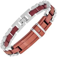 Steel Brown Plated Diamond Set ID Bracelet at Kmart.com