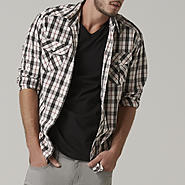 Adam Levine Men's Poplin Shirt - Plaid at Sears.com