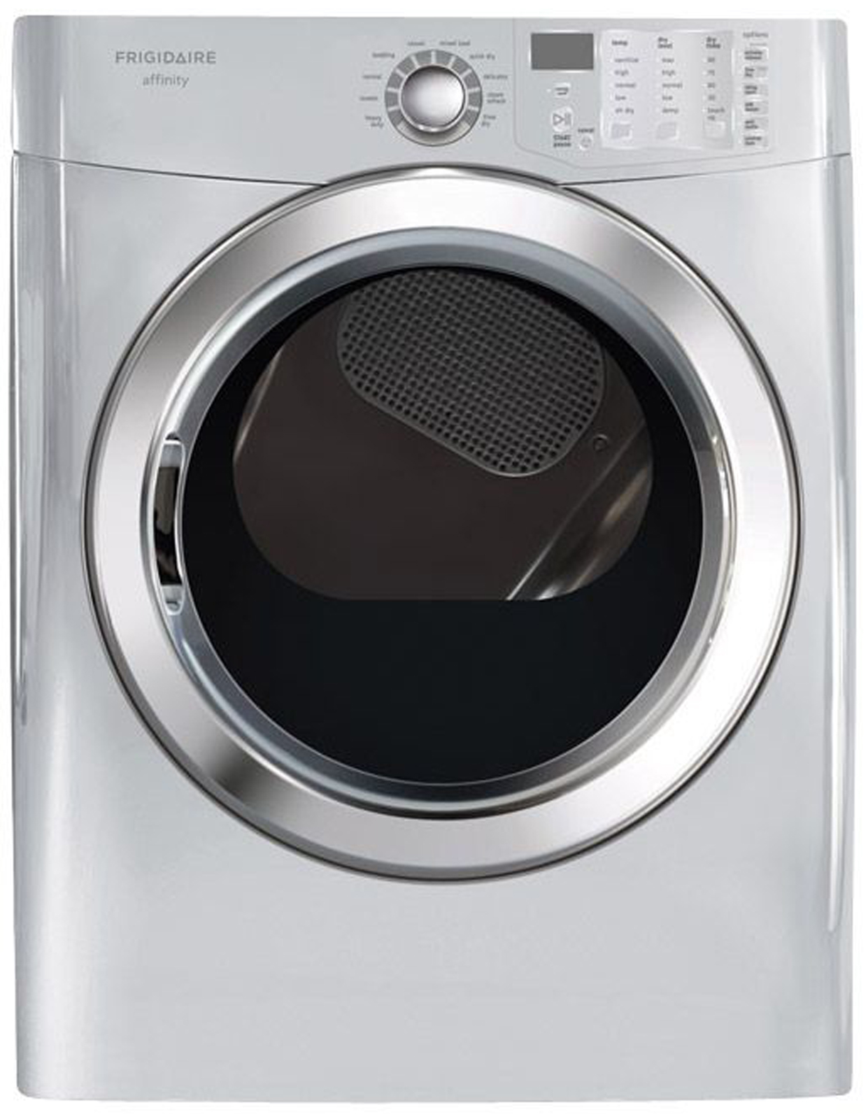 Frigidaire 7.0 cu. ft. Ready Steam™ Electric Dryer w/ Stainless Steel Drum - Classic Silver