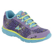 Athletech Girl's Sneaker Sky - Purple/Leopard at Kmart.com