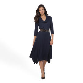 Robbie Bee Women's Cowl Neck Dress & Belt at Sears.com