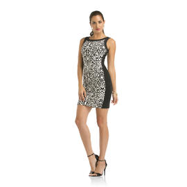 Kardashian Kollection Women's Ponte Knit Dress - Snow Leopard Print at Sears.com