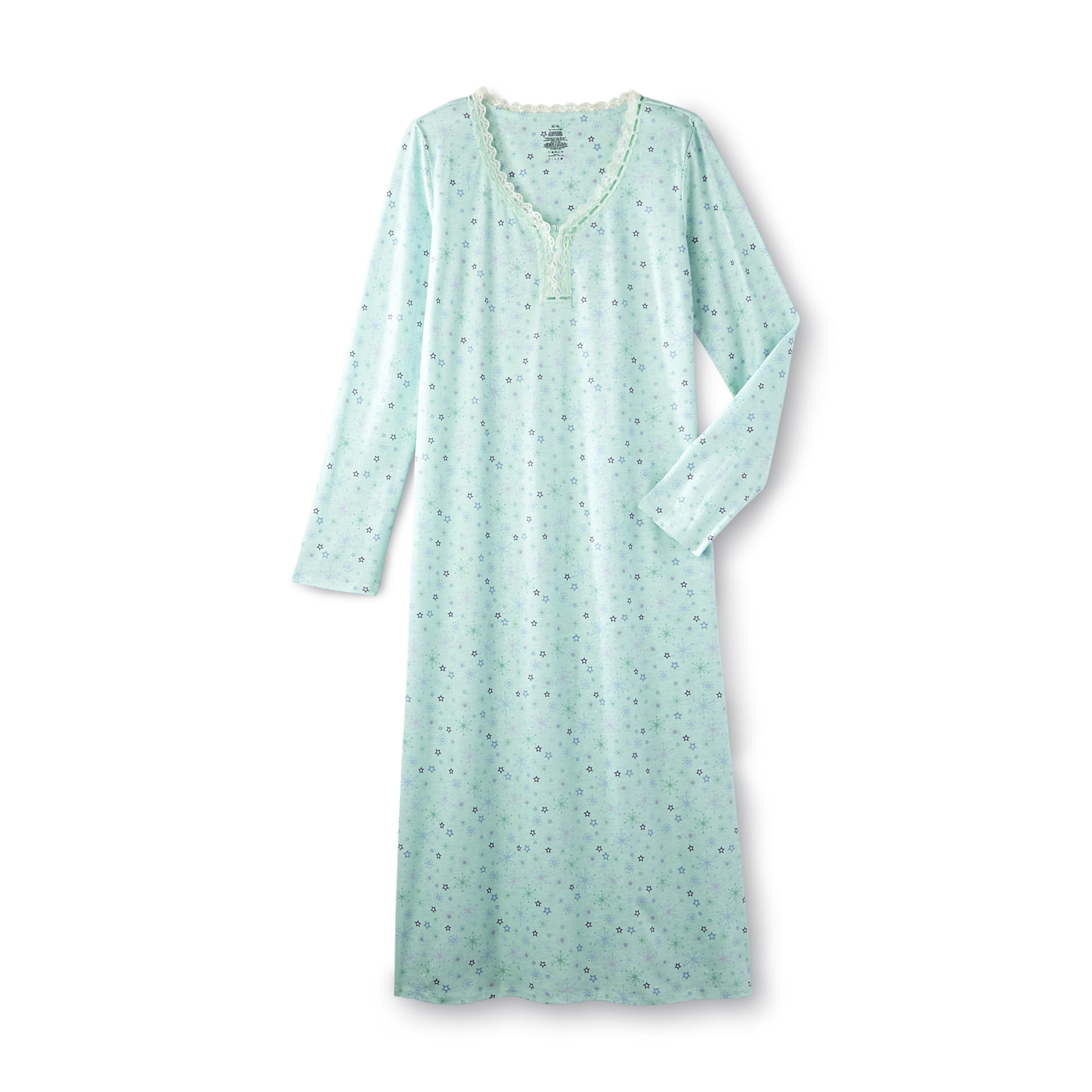 Pink K Women's Long Nightgown - Star Print at Kmart.com