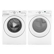 Whirlpool 4.1 cu. ft. Front-load Washer w/ Stainless Steel Basket & Dryer Bundle - White at Kmart.com