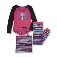 Joe Boxer Junior's Pajama Top, Pants & Tote - Drama Queen at Kmart.com