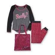 Joe Boxer Junior's Pajama Top, Pants & Tote - Really at Kmart.com