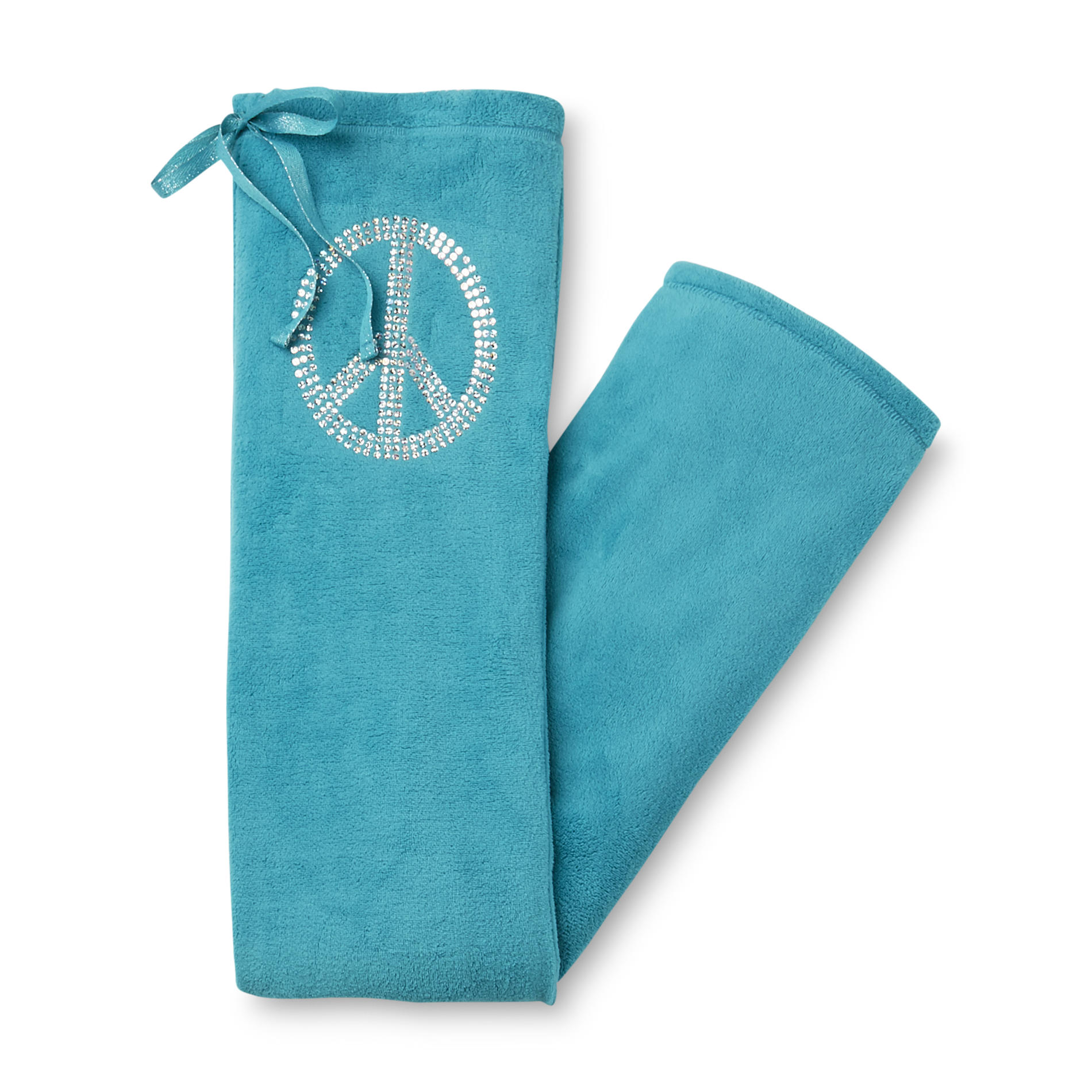 1704a15e1a Joe Boxer Womens Microfleece Pajama Pants Peace Sign