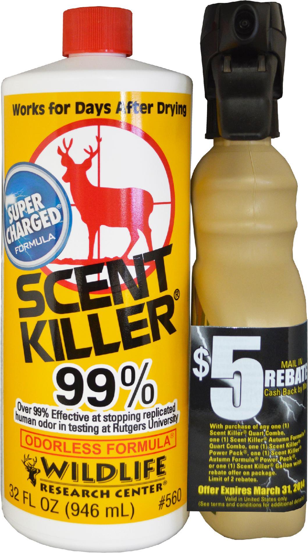 Scent Killer PartNumber: 089W025385111001P KsnValue: 25385111 MfgPartNumber: 560 QT/4OZ