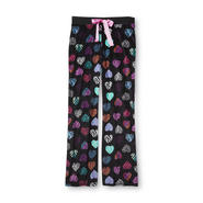 Joe Boxer Women's Ribbed Velour Pajama Pants - Animal Print Hearts at Kmart.com