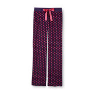 Joe Boxer Women's Ribbed Velour Pajama Pants - Polka Dot at Kmart.com