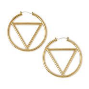 Nicki Minaj Women's Triangle Hoop Earrings at Kmart.com