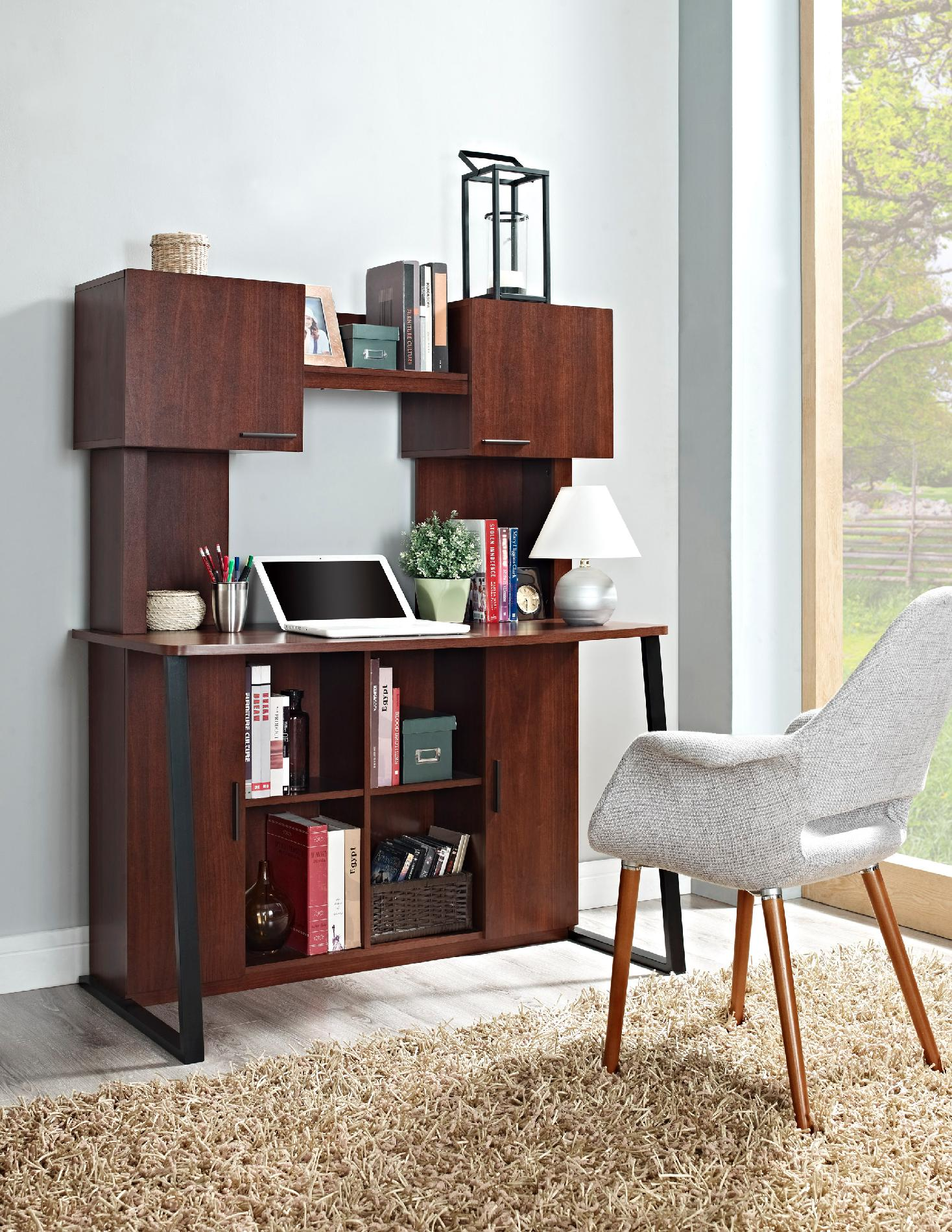 Cherry Empire Contemporary Desk with Hutch