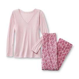 Jaclyn Smith Women's Pajama Top & Pants - Floral at Kmart.com
