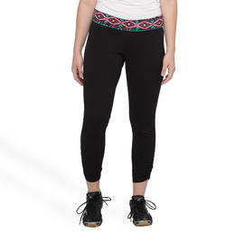 Joe Boxer Women's Plus Overlap Waist Yoga Leggings - Tribal at Kmart.com