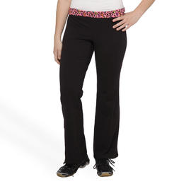 Joe Boxer Women's Plus Overlap Waist Yoga Pants - Leopard at Kmart.com