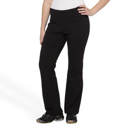 Joe Boxer Women's Plus Overlap Waist Yoga Pants at Kmart.com
