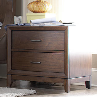 Oxford Creek Alexis Curved Front 2-drawer Nightstand Medium Finish