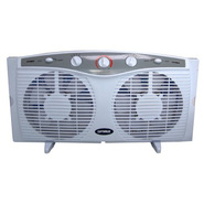 "Optimus 8"" Elec. Rev. Twin Window Fan with Thermostat at Kmart.com"